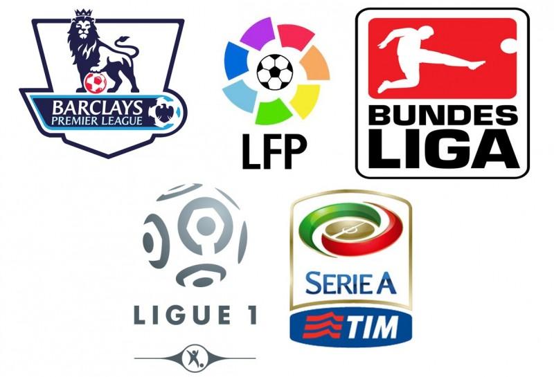 Posledních 10 vítězů TOP 5 lig